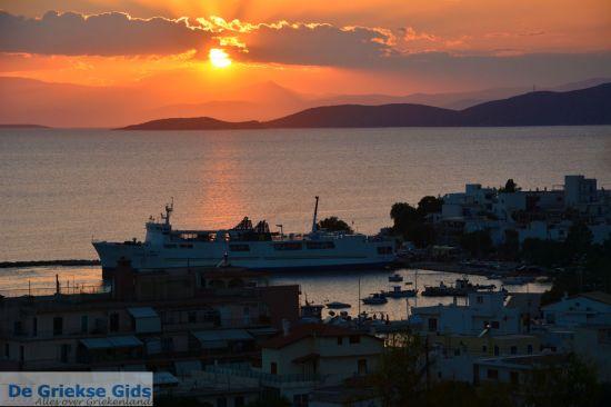 Zonsondergang in Zuid Evia Griekenland